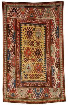 Skinner's Fine Oriental Rugs 11 May 2013. A Bordjalou Kazak Rug, Southwest Caucasus, second half 19th century.
