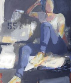 Melinda L. Cootsona - Melinda Cootsona at Seager Gray Gallery showing 55 an oil painting of an abstract figure in Mill Valley California in ...