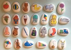 Welcome to My Story Stones Rock! Story stones are a unique and beautiful way to encourage and expand the imagination of young minds. Use them for story telling, learning, building vocabulary and general play. They really can be used by parents, professionals and children in so many different ways. The tactile smooth textured stones with hand drawn images spark creativity within. Watch how children carefully choose a stone from their set and immediately interact with it. The story stones o...