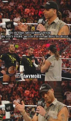 Shawn Michaels & CM Punk l WWE - BAAHAHAHAAA!! Love both these guys! X) @gentrymma770 <3