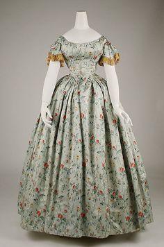 Evening dress 1850s
