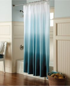 Ombre Shower Curtain - Teal -Threshold™