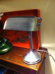 Art Deco Desk Lamp in Chrome *French* 1930