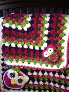Crochet  Baby Blanket Pattern  Granny Square Crib by babywagz