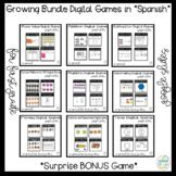 Math Bundle Games in Spanish for First Graders *Google Slides*