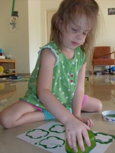 Make a shamrock stamp with a green pepper