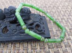 Vintage Natural Green Jade Jadeite Carved by wandajewelry2013