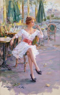 Konstantin Razumov - A la terrasse du café