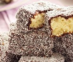 Lamingtons: This Aussie classic is a cinch – sponge cake soaked in dripping chocolate icing and desiccated coconut. http://www.bakers-corner.com.auhttps://www.bakers-corner.com.au/recipes/cakes/lamingtons/