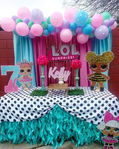 Jojo Siwa Birthday, Baby Girl Birthday, Surprise Birthday, 5th Birthday, Birthday Party Table Decorations, Birthday Party Tables, Doll Party, Fun Crafts For Kids, Birthdays