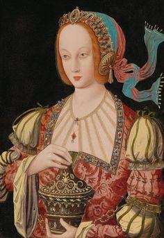 School of Antwerp, circa 1520 Mary Magdalene, oil on panel, 49 x 35 cm Costume Renaissance, Renaissance Kunst, Die Renaissance, Renaissance Portraits, Medieval Tapestry, Medieval Art, Art And Illustration, Oil Pastel Colours, Oil Pastels