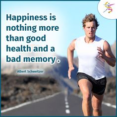 Happiness is nothing more than good health and a bad memory.#healthquotes #healthyfood #fitbody