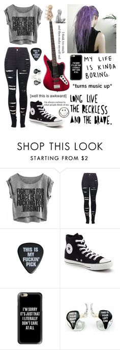 """""""I don't know"""" by fan-of-5-seconds-of-summer ❤ liked on Polyvore featuring 2LUV, BLVD Supply, Converse, Casetify, Forum and Anya Hindmarch"""