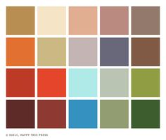 Mid century modern design decorating guide paint for Old west color palette