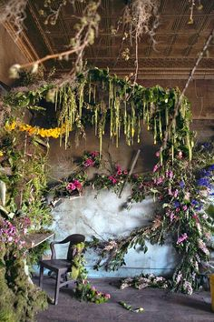 Florist Transforms the Walls and Ceilings of an Abandoned House into a Beautiful Flower Garden | Junkculture