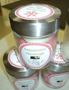 A special kind of class: Peppermint Playdough Label Freebie