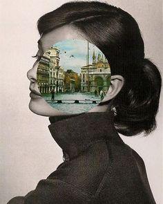 Venice meets Audrey Hepburn in this splendidly surrealist collage by John Stezaker