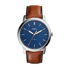 The Minimalist Slim Three-Hand Light Brown Leather Watch - Fossil Timex Watches, Fossil Watches, Movado Watches, Daniel Wellington, Ice Watch, Mens Designer Watches, Diesel Watch, Vintage Watches For Men, Bracelet Cuir