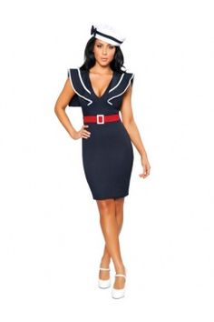 Sailor Costume, i would totally wear this all day long, singing I'm on a boat at the top of my lungs
