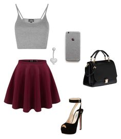 """glitter abd grey"" by redhedqueen1 on Polyvore featuring Topshop, Gioelli Designs, Prada and Miu Miu"