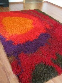 sundown rya Inspiral Carpets, Homemade Rugs, Rya Rug, Carpet Sale, Carpet Stairs, Cool Rugs, Vintage Rugs, Weaving, Embroidery