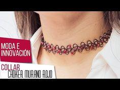 Como hacer collar choker con murano rojo Kit 26641   VARIEDADES CAROL - YouTube