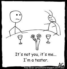 Cartoon Tester: The Inevitable Breakup Software Testing, Love Bugs, Inevitable, Breakup, Halloween Party, Scary, Thankful, Snoopy, Cartoon