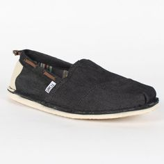 26c7bc4142c Toms - Mens Black Denim Bimini Shoes