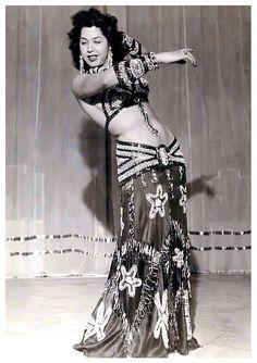 Samia Gamal - love the shape of her hip belt
