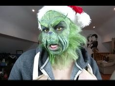 The grinch costume with laytex mask and makeup pinterest grinch grinch make up tutorial solutioingenieria Image collections