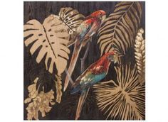 Cuadro decoración - Loros multicolor Parrot Painting, Animal Drawings, Drawing Animals, Pet Birds, Rooster, Design, Parrots, Art, Leaves