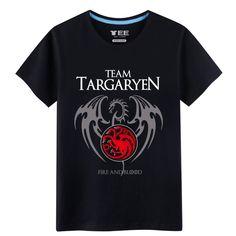 2017 New Listing Mens T-Shirts Games of Thrones House Targaryen Seven Kingdoms Cotton T-Shirts - Direwolf Shop Direwolf Shop Game Of Thrones Houses, T Shirt, Sang, Blood, Cotton, Mens Tops, Dragon, Stuff To Buy, Shopping