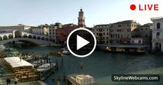 Superb images of the Rialto Bridge and the Grand Canal in live streaming