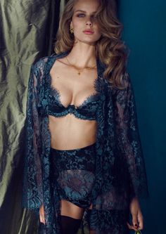 Mei Seducing with Mei's sultry and sophisticated dark metallic layers. Made in simple black satin overlaid with exquisite metallic blue and ...