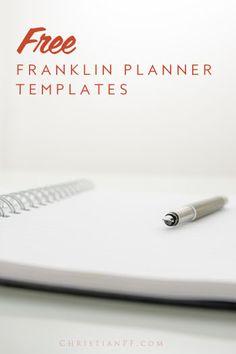 Free PRINTABLE Franklin Planner tempates