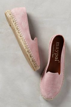 Crushing on these rose espadrilles. A nice deviation from the standard whites, tans and blacks we've been seeing all season. Sera Savane Rose Espadrilles by Maypol