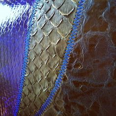 Melyne Roi, sac / bag, Blue / bleu Python, couleuvre, cuir Chanel