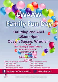 Fun Day for #WAAW from Wrexham NAS - EventsnWales, The Wrexham Branch of the National Autistic Society are holding their 2nd Fun Day to raise awareness .....