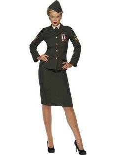 Women's Wartime Officer Costume