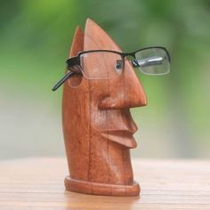 Wood 'Friendly Face' - Natural Wood with Facial Form from Bali Woodworking Images, Woodworking Bed, Woodworking Projects, Woodworking Chisels, Youtube Woodworking, Woodworking Workshop, Custom Woodworking, Tree Carving, Wood Carving Art