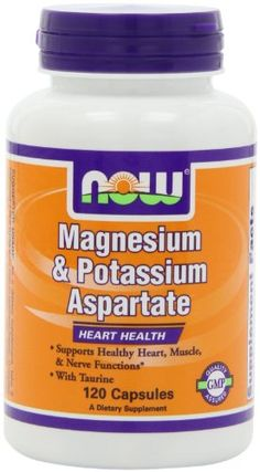 NOW Foods Magnesium and Potassium Aspartate W Taurine 120 Capsules Pack of 2 >>> You can find out more details at the link of the image.