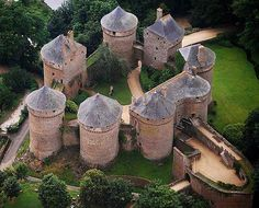 Château de Lassay, Lassay-les-Châteaux, Mayenne, France.    http://www.castlesandmanorhouses.com/photos.htm    The original castrum or castellum, built in the early years of the twelfth century, was probably in a motte and bailey castle.  The present castle was classé as a monument historique in 1862 and is still a private residence.