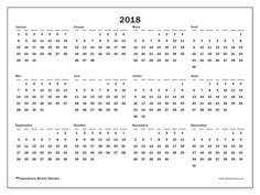 Calendrier à imprimer gratuit 2018, 32LD