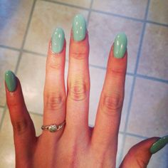 Almond nails with Tiffany inspired color