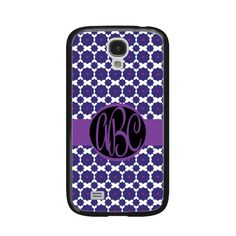 Samsung Galaxy S4 Geometric Daisy Monogram Case