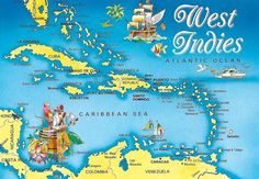 Caribbean West Indies Map