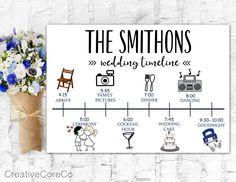 Wedding Ceremony Programs, Wedding Reception Decorations, Wedding Ideas, Wedding Day Timeline, Wedding Cards, Wedding Stuff, Table Games, Wedding Stationary, Wedding Planner