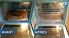 Comment nettoyer un four très sale et encrassé naturellement et rapidement avec du bicarbonate et du vinaigre blanc sans effort ? Utilisez cette recette DIY sans ammoniaque et sans pyrolyse pour nettoyer l'intérieur, la vitre du four, les grilles, la porte et la plaque. Ce tuto permet d'enlever les graisses brûlées facilement sans frotter. Ça marche pour les fours électrique ou à gaz. Diy Cleaning Products, Toaster, Oven, Kitchen Appliances, Effort, Plaque, Attention, Jus Detox, Agriculture