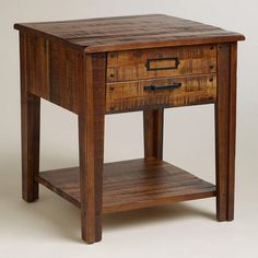 One of my favorite discoveries at WorldMarket.com: Roland End Table. As night stand in master bedroom