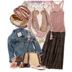 Pink, Brown, & Denim <3